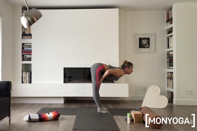 Séance de yoga en ligne pour des étirements toniques et alignements du corps